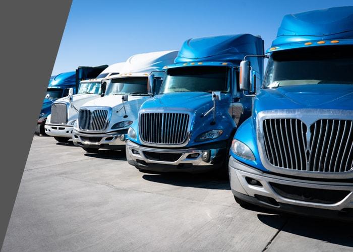 fleet of semi trucks